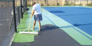 Tennis Court Resurfacing 26 Miles Across the Ocean - Taylor Tennis Courts
