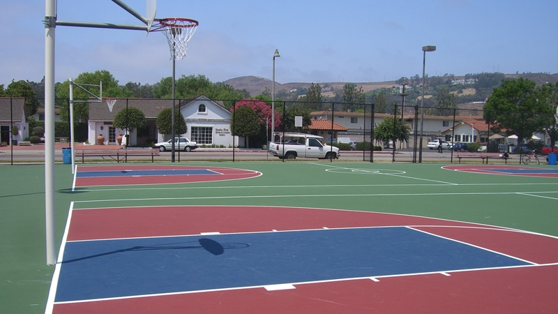 Basket Ball Court Surface Construction