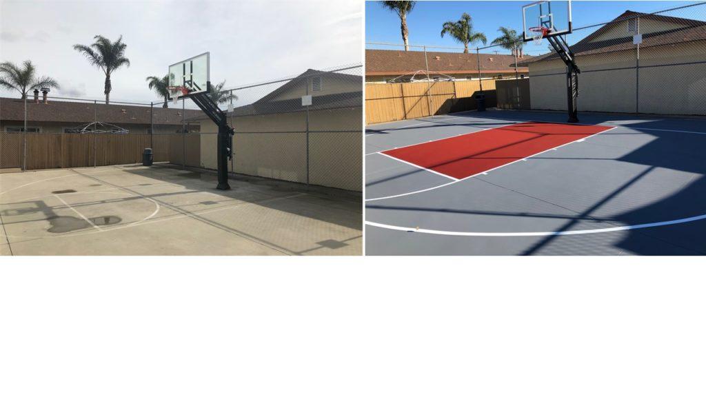 Basketball Court Resurfacing, Basketball Court Construction
